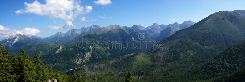 Panorama del Tatras imagen de archivo
