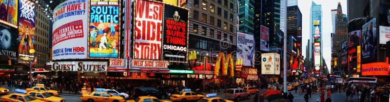 Panorama del Times Square imágenes de archivo libres de regalías