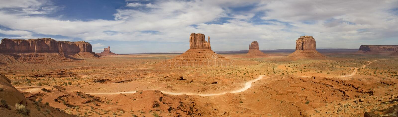 Panorama del valle del monumento imagen de archivo