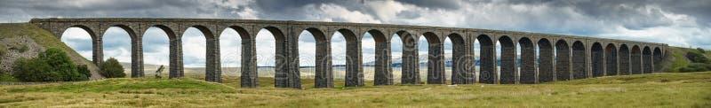 Panorama del viadotto di Ribblehead che porta la cassapanca a Carlisle r fotografia stock