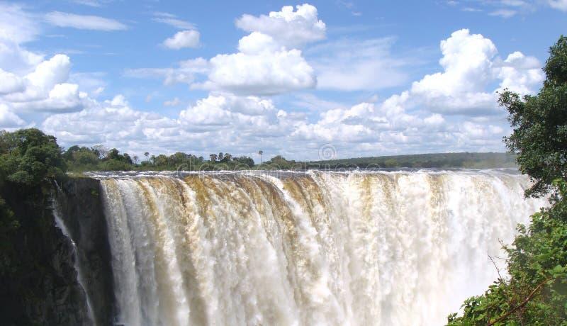Panorama del Victoria Falls fotografie stock libere da diritti