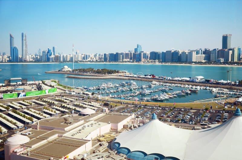 Panorama dell'Abu Dhabi, UAE fotografia stock