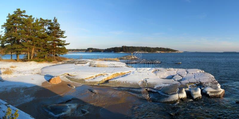 Panorama dell'arcipelago immagini stock