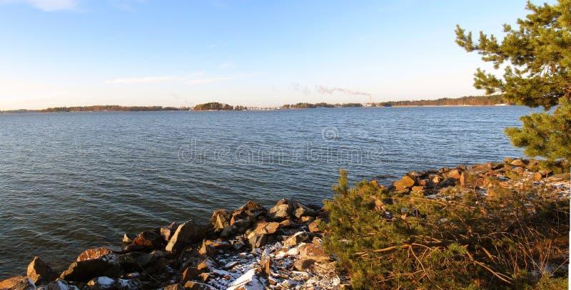 Panorama dell'arcipelago di Helsinki immagine stock libera da diritti