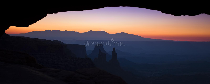 Panorama dell'arco di MESA fotografie stock libere da diritti