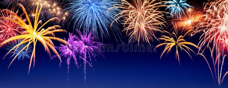 Panorama dell'esposizione dei fuochi d'artificio
