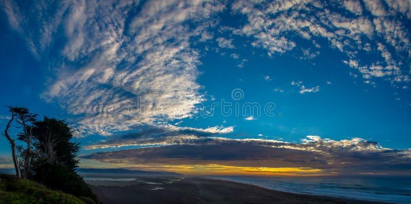 Panorama dell'estuario del fiume dell'anguilla fotografie stock libere da diritti