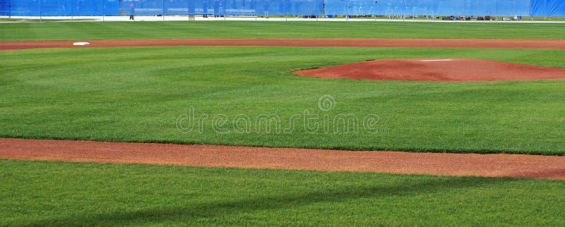 Panorama dell'infield immagini stock libere da diritti