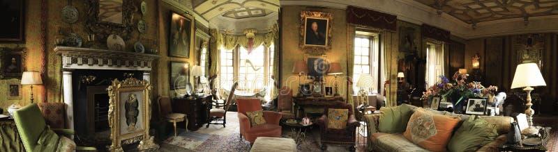 Panorama dell'interno del castello di Chillingham fotografia stock libera da diritti