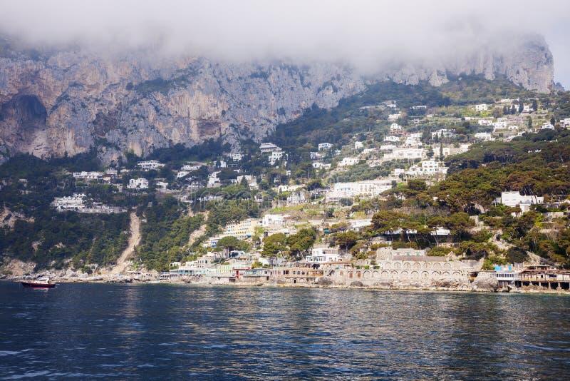 Panorama dell'isola di Capri fotografie stock libere da diritti