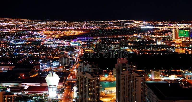 Panorama dell'orizzonte della città di Las Vegas fotografie stock