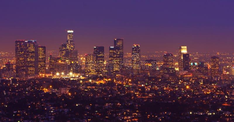 Panorama dell'orizzonte di Los Angeles fotografie stock libere da diritti