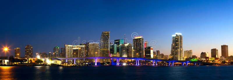 Panorama dell'orizzonte di Miami immagine stock libera da diritti