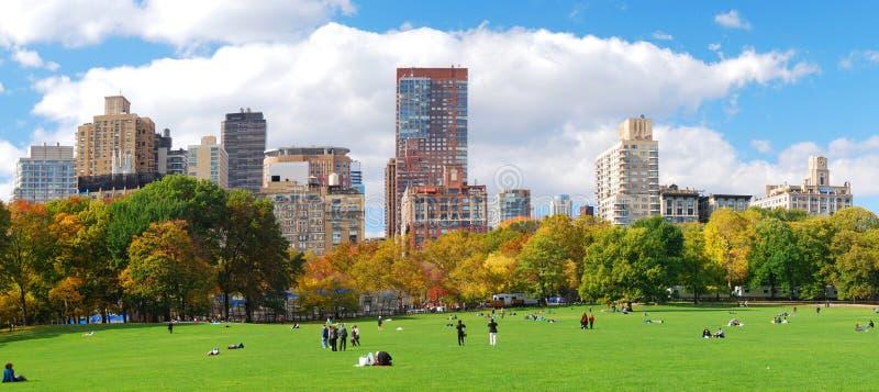 Panorama dell'orizzonte di New York City Manhattan fotografia stock