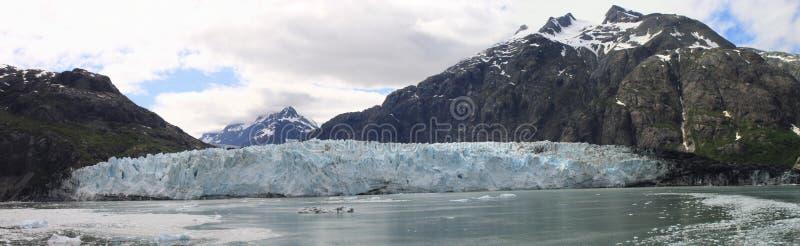 Panorama della baia di ghiacciaio immagini stock libere da diritti
