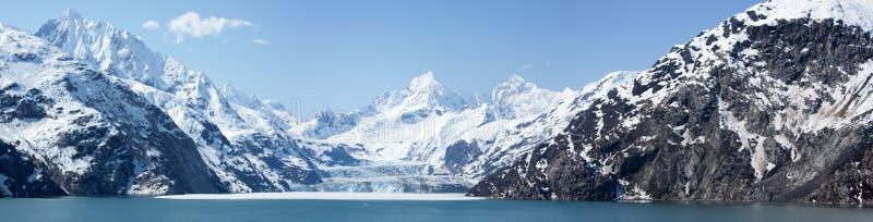 Panorama della baia di ghiacciaio immagine stock libera da diritti