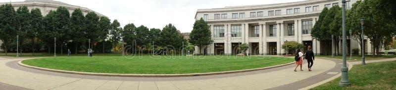 Panorama della biblioteca universitaria fotografia stock