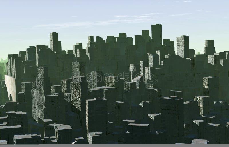 Panorama della città illustrazione di stock