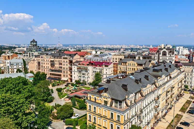 Panorama della città dall'altezza del campanile del Ca fotografie stock libere da diritti