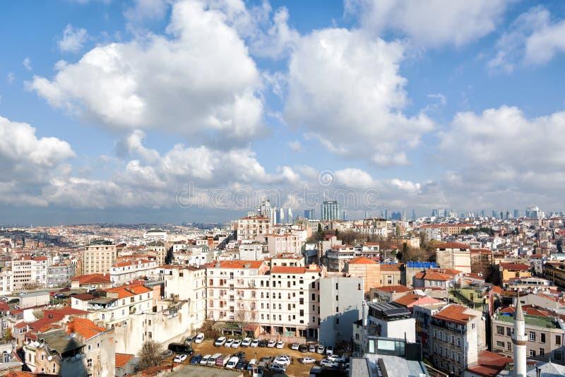 Panorama della città dalla torre Galata, Istanbul, Turchia fotografia stock