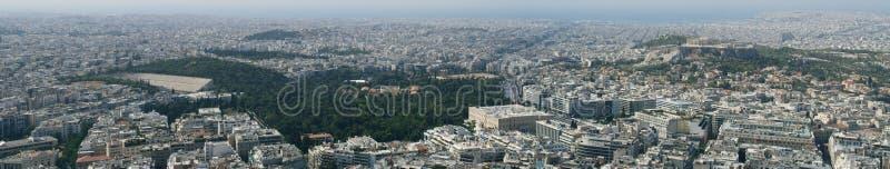 Panorama della città di Atene immagini stock