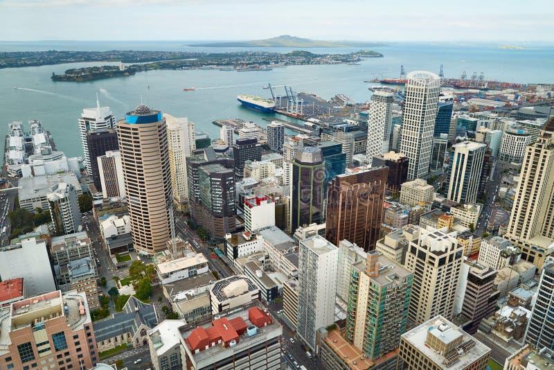 Panorama della città di Auckland fotografia stock