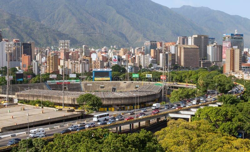 Panorama della città di Caracas, Venezuela immagini stock libere da diritti