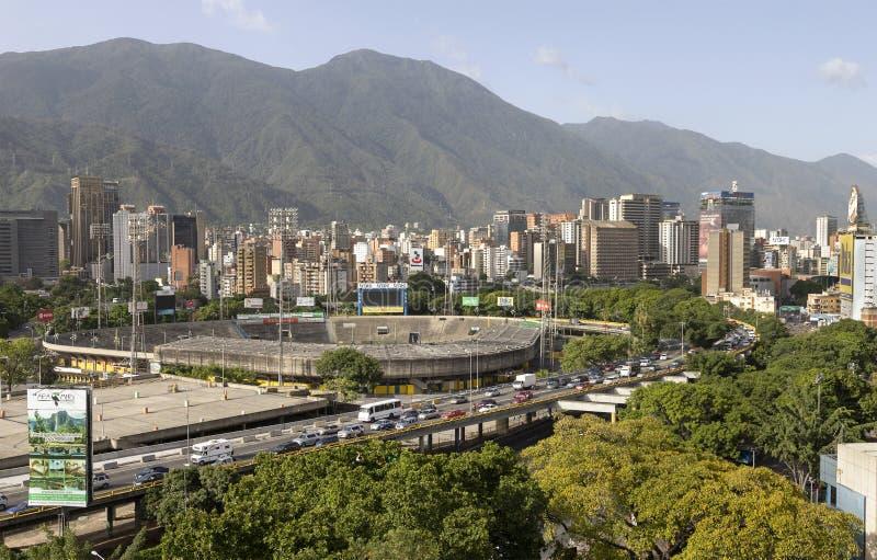 Panorama della città di Caracas, Venezuela immagini stock