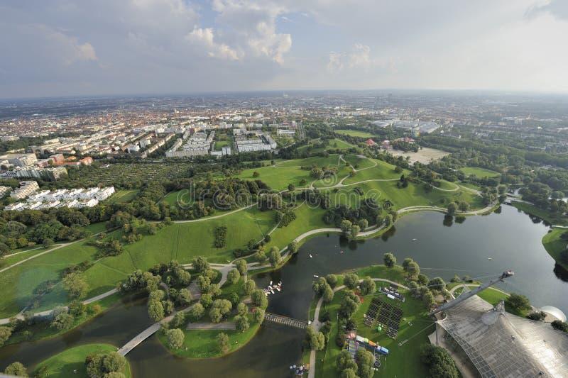 Panorama della città di Monaco di Baviera fotografia stock libera da diritti