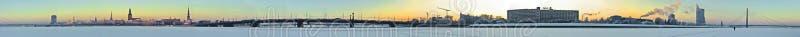 Panorama della città di Riga fotografie stock libere da diritti