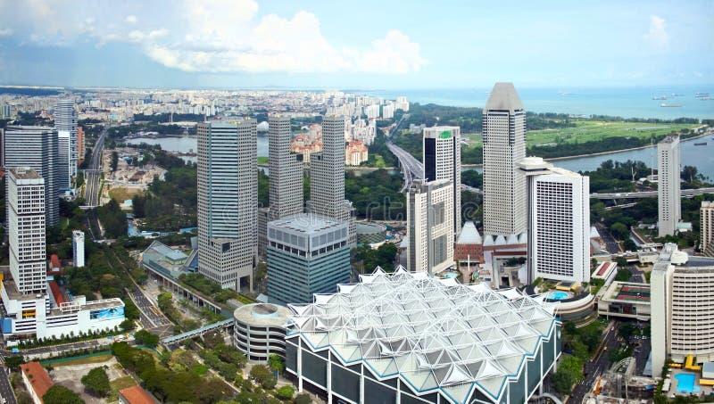 Panorama della città di Singapore fotografie stock libere da diritti