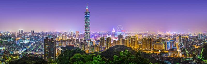 Panorama della città di Taipei immagine stock