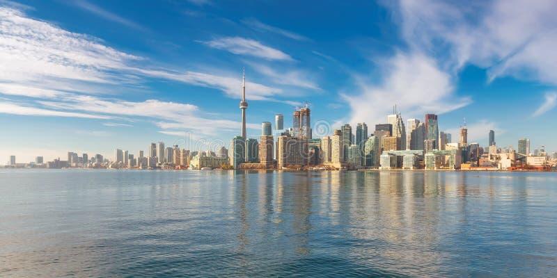 Panorama della città di Toronto a Toronto, Ontario, Canada immagini stock libere da diritti
