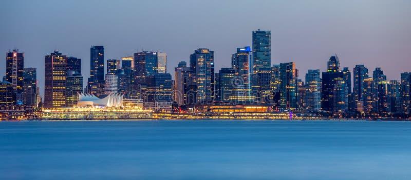Panorama della città di Vancouver fotografie stock