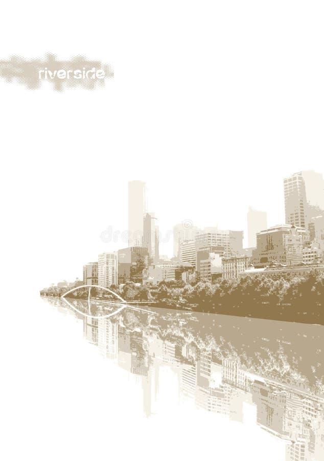 Panorama della città. Vettore royalty illustrazione gratis