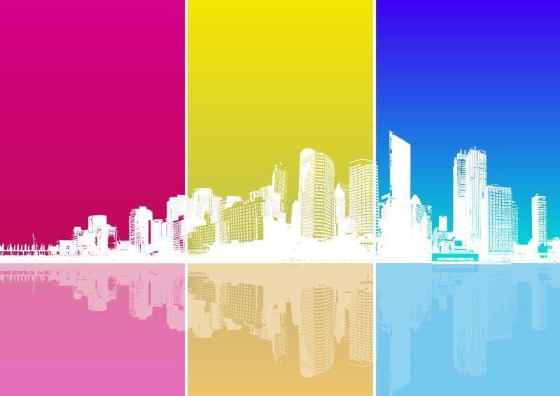 Panorama della città. Vettore illustrazione di stock