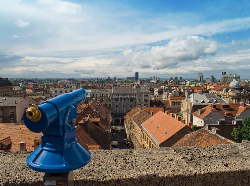 Panorama della città. Zagabria fotografia stock