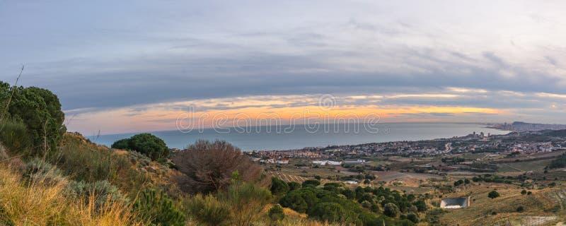 Panorama della costa della Catalogna fotografia stock libera da diritti