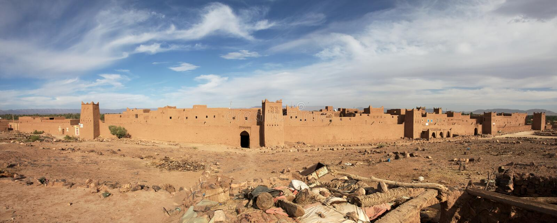 Panorama della fortezza marocchina fotografie stock libere da diritti