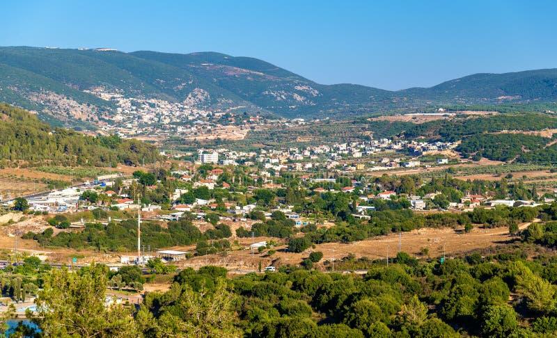 Panorama della Galilea vicino a Nazaret - Israele fotografia stock