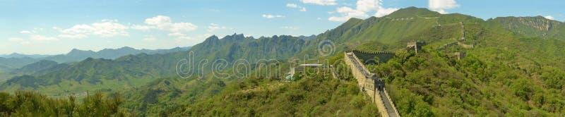 Panorama della grande muraglia della Cina fotografia stock