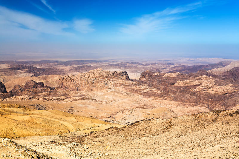 Panorama della montagna del Giordano fotografie stock