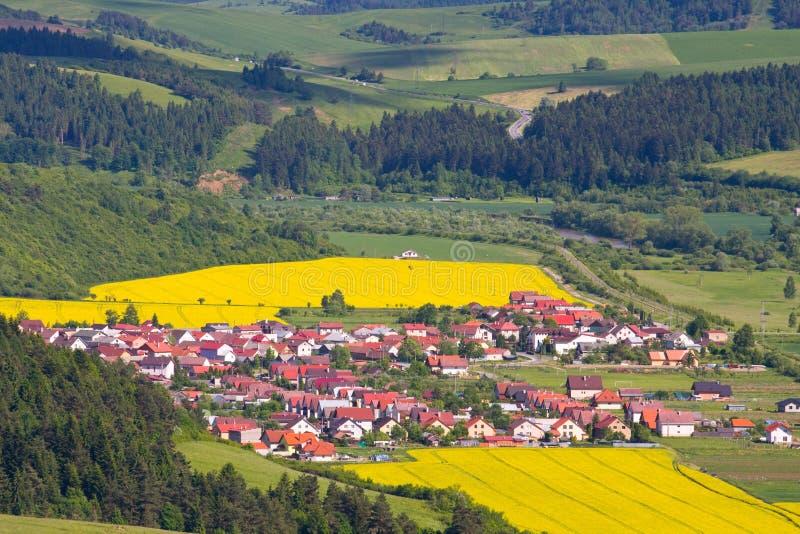 Panorama della montagna di estate, Stara Lubovna fotografia stock libera da diritti