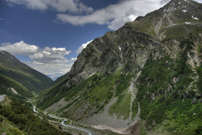 Panorama della montagna - sosta nazionale Italia immagine stock