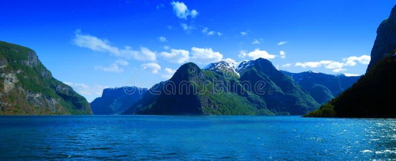 Panorama della Norvegia fotografia stock