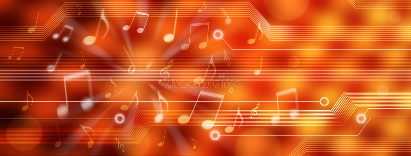 Panorama della priorità bassa di musica di Digitahi illustrazione vettoriale