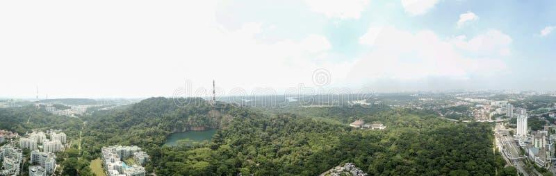 Panorama della riserva naturale di Bukit Timah immagini stock libere da diritti