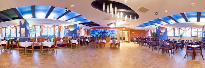 Panorama della sala da ballo dell'hotel fotografia stock