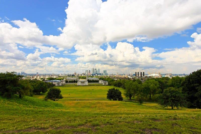 Panorama della sosta di Greenwich fotografia stock