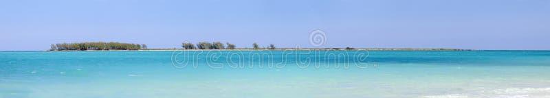Panorama della spiaggia dei Cochi di Cayo, Cuba fotografia stock